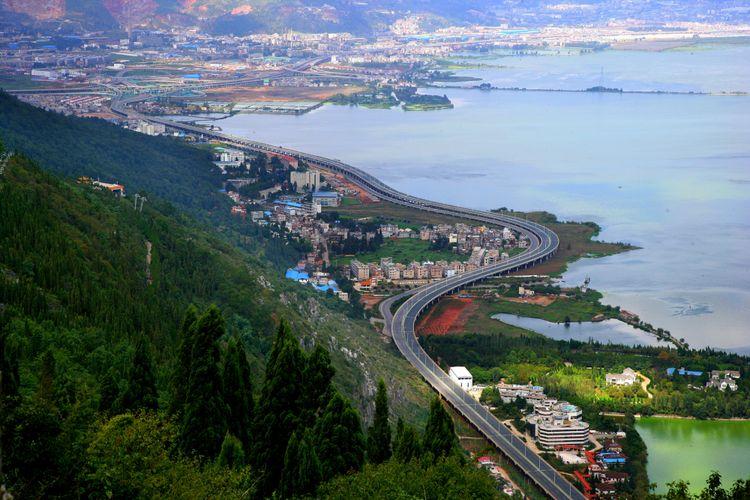 Kota Kunming, Ibukota Provinsi Yunnan, China.
