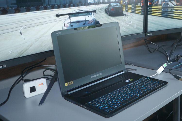 Predator Triton 700 yang oleh Acer diklaim sebagai laptop gaming tertipis dikenalkan kepada sejumlah media di jakarta, Selasa (9/1/2018).