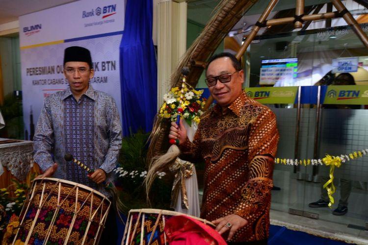 Dirut BTN Maryono bersama Gubernur NTB Muhammad Zainul Majdi