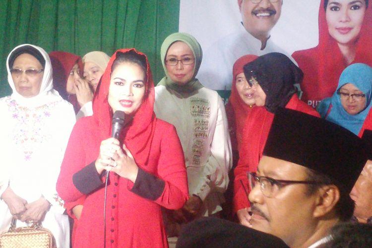 Puti Guntur Soekarno saat memberikan sambutan di kantor DPW PKB Jatim.
