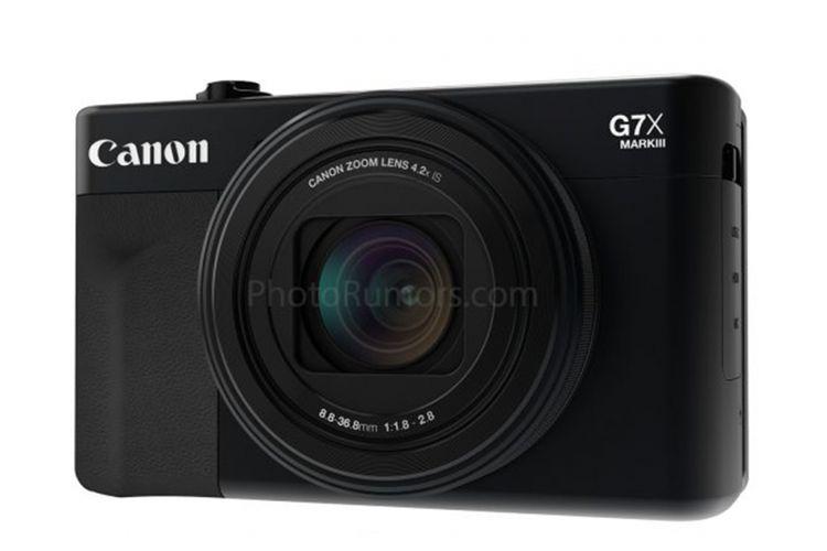 Bocoran gambar kamer saku premium Canon PowerShot G7X Mark III.