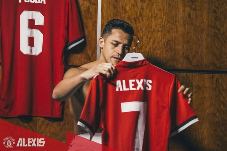 Alexis Sanchez diumumkan resmii sebagai pemain baru Manchester United pada Senin (22/1/2018) malam.
