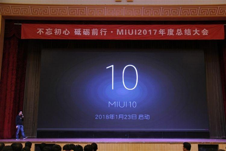 Pengumuman dimulainya pengembangan MIUI 10 dalam sebuah acara Xiaomi di Beijing, China, awal pekan ini.
