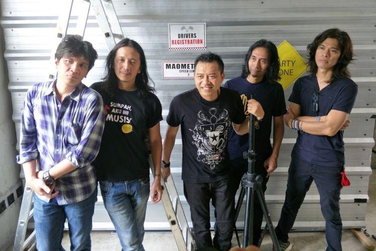 Kidnap Katrina dalam peluncuran singel Kesepian di Postjam, Potlot III, Jakarta Selatan, Kamis (1/2/2018).