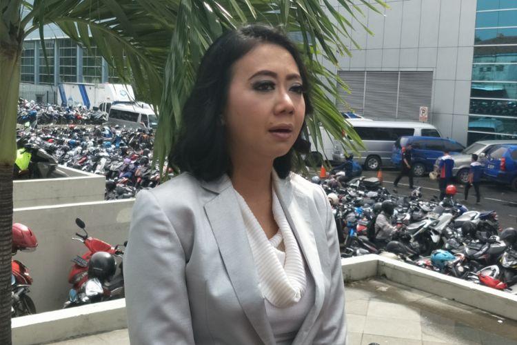 Asri Welas saat ditemui di Studio TransTV, Mampang, Jakarta Selatan, Senin (5/2/2018).