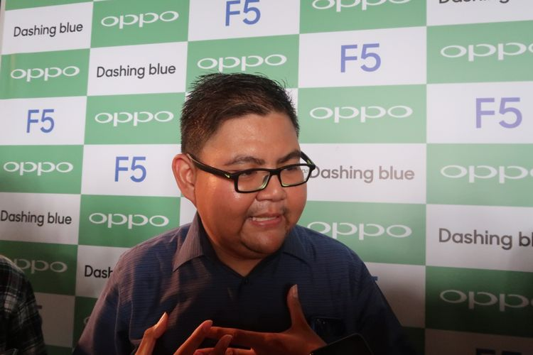 PR Manager Oppo Indonesia, Aryo Meidianto.