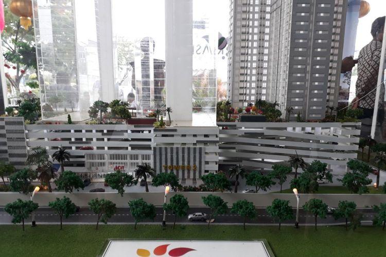Maket apartemen Klaska Residence di tepi Sungai Jagir Surabaya