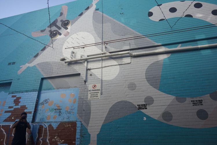 Mural di Nick Lane, Perth, Australia Barat.