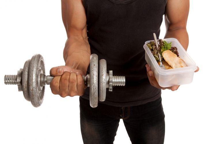 Ilustrasi makan setelah olahraga