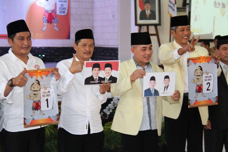 Hasil pengundian nomor urut Pilkada Magelang, Selasa (13/2/2018), asil pengundian diketahui nomor urut 1 diperoleh oleh paslon Bupati dan Wakil Bupati, Zaenal Arifin dan  dengan Edi Cahyana (PADI) yang didukung partai koalisi Partai PDIP, PKB, PAN, PPP, dan Demokrat.  Untuk nomor urut 2, diperoleh paslon Muhammad Zaenal Arifin dan Rochadi Pratoto (ZAROH), yang diusung partai Gerindra, Golkar dan PKS.