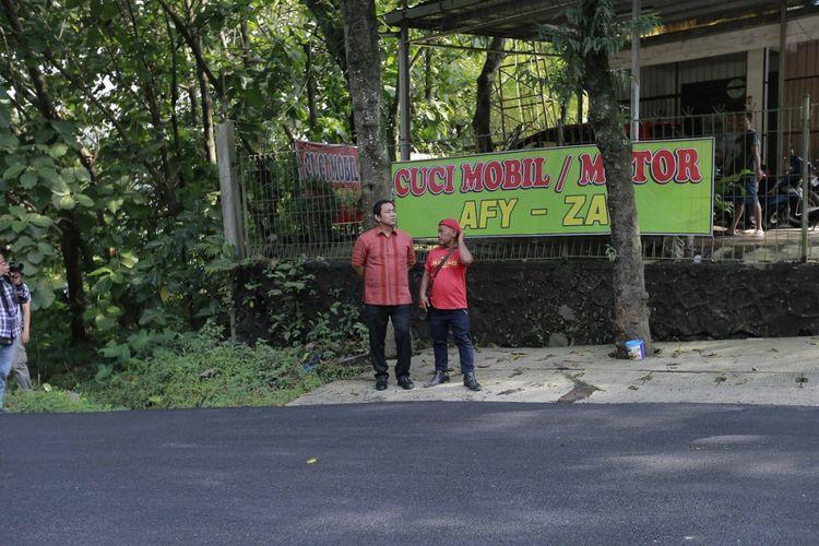 Perbaikan Jalan Pawitan Luhur di Semarang Dikebut