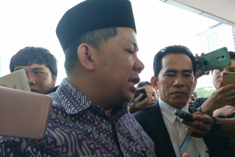 Fahri Hamzah di Mapolda Metro Jaya, Kamis (8/3/2018).