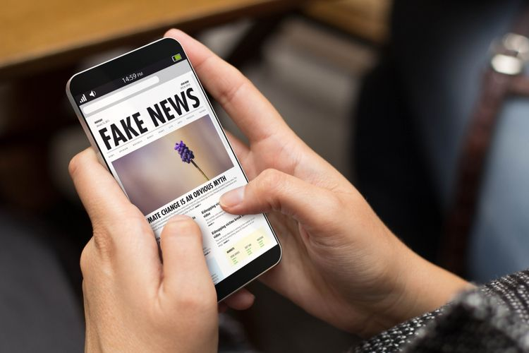 Ilustrasi hoaks atau berita palsu