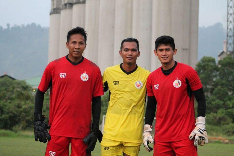 Tiga pemain yang sedang menjalani trial di Semen Padang.