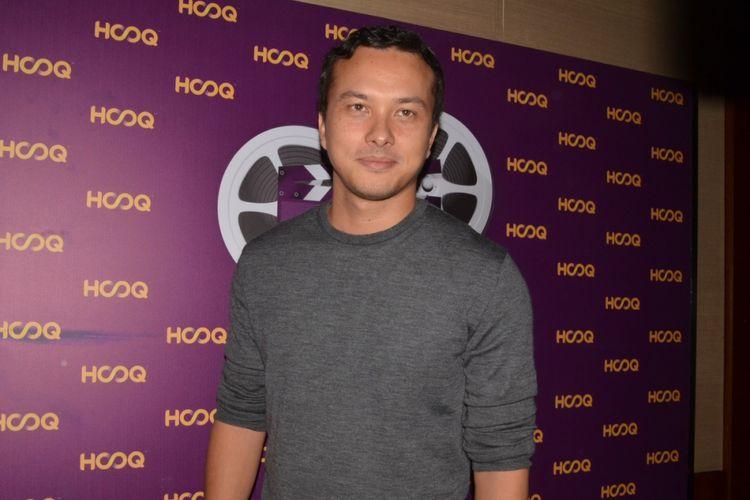 Nicholas Saputra dalam konferensi pers HOOQ Filmmakers Guild di Plaza Indonesia, Jakarta Selatan, Rabu (14/3/2018).
