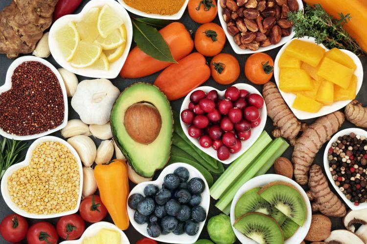 Ilustrasi makanan sehat untuk jantung