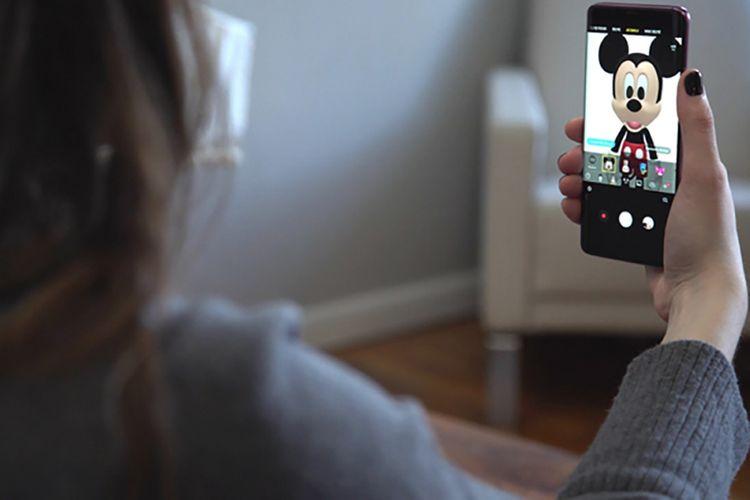 Ilustrasi AR Emoji Disney untuk Galaxy S9.
