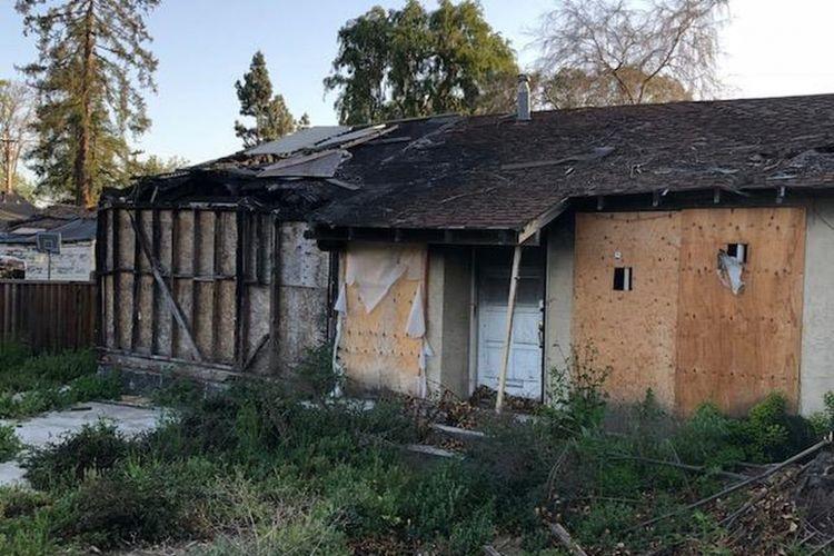 Rumah bekas terbakar di Callifornia ini ditawar hingga 1 juta dollar AS.