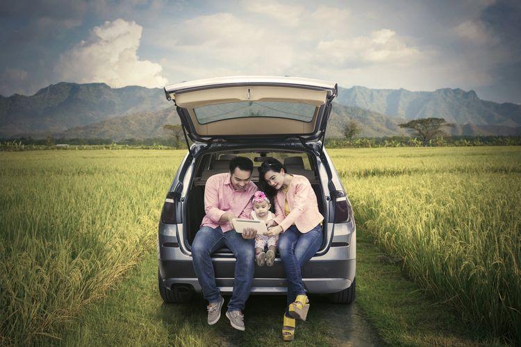 Ilustrasi mudik bersama keluarga.
