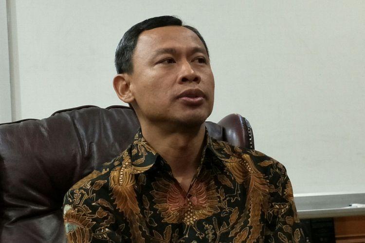 Komisioner KPU RI, Pramono Ubaid ketika ditemui di Kantor KPU RI, Jakarta, Kamis (26/4/2018).