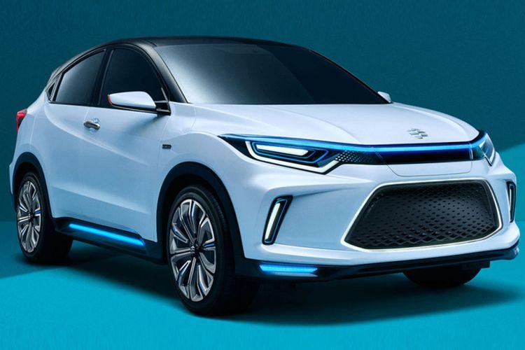 Mobil listrik konsep Honda Everus meluncur di China.