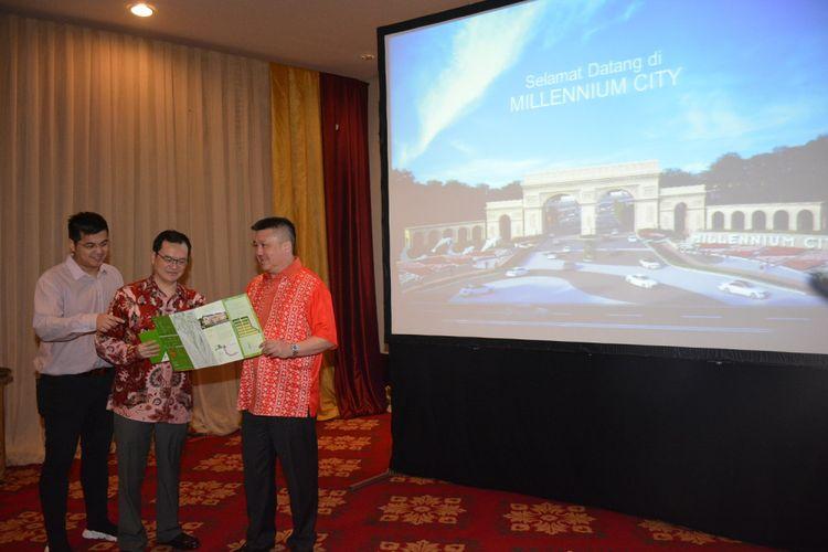 Presiden Direktur PT Millenium Land dan COO Millenium City Hans Leander usai peluncuran Millenium City, di Jakarta, Sabtu (28/4/2018).