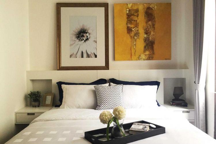 Desain interior kamar tidur Graha Natura Blok AA di Srabaya karya KOMA