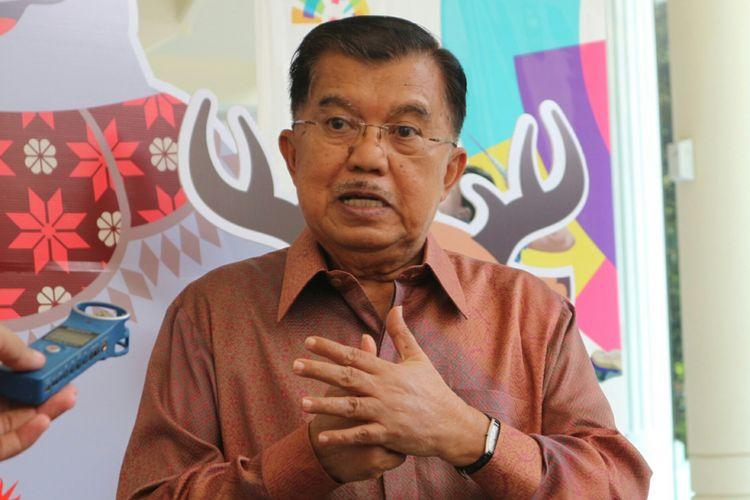 Wakil Presiden RI Jusuf Kalla ketika ditemui di Kantor Wakil Presiden RI, Jakarta, Selasa (8/5/2018).