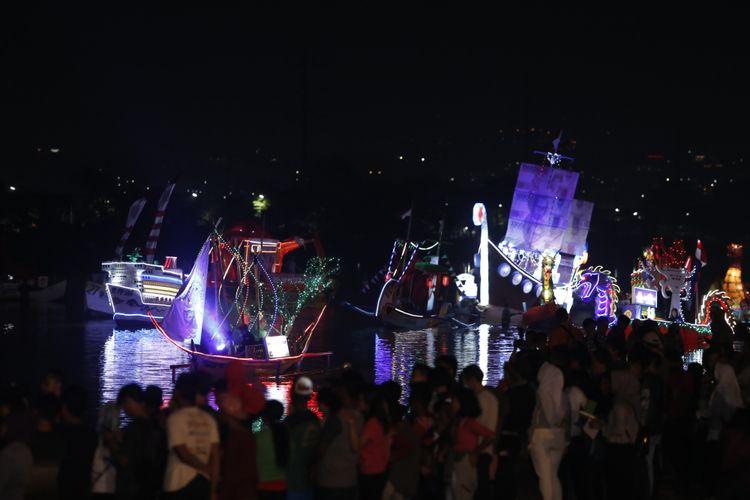Wali Kota Semarang, Hendrar Prihadi, membuka Festival Banjir Kanal Barat, Jumat (11/5/2018).