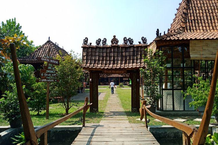 Suasana di destinasi wisata Omah Kecebong, Desa Cebongan, Kabupaten Sleman, DIY, Rabu (9/5/2018)
