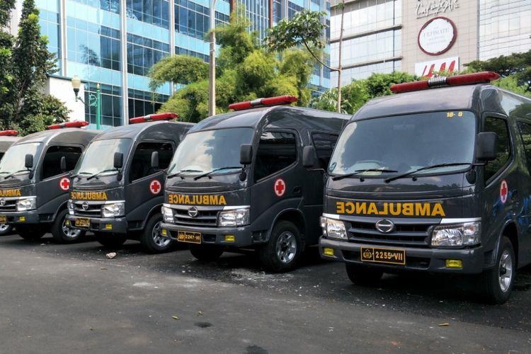Ambulans Subbid Dokpol Biddokkes Polda Metro Jaya. Foto diambil pada Jumat (18/5/2018).