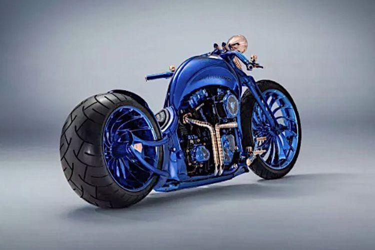 Harley-Davidson Bucherer Blue Edition, motor termahal di dunia.