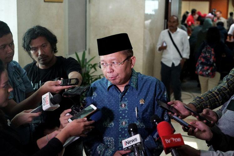 Anggota Pansus RUU Antiterorisme dari Fraksi PPP Arsul Sani di Kompleks Parlemen, Senayan, Jakarta, Rabu (23/5/2018).