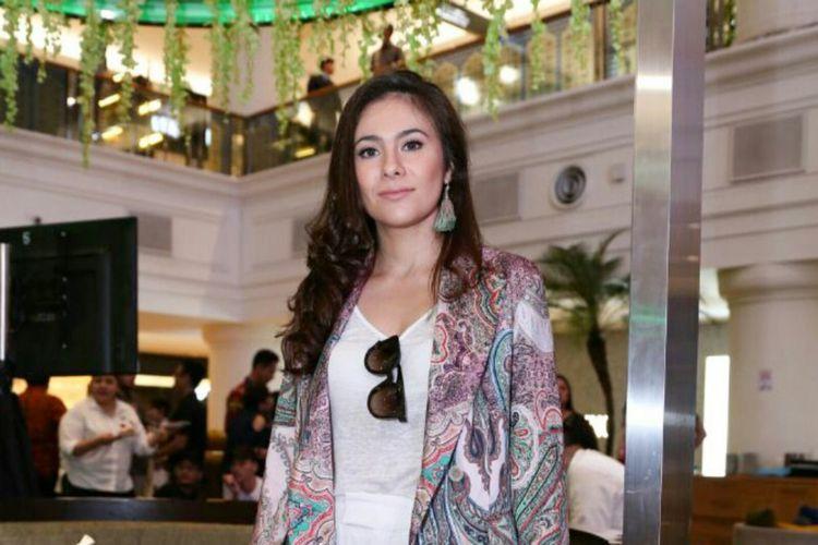 Wulan Guritno diabadikan dalam acara Ramadhan In Style, Plaza Indonesia, Jakarta Pusat, Jumat (25/5/2018).
