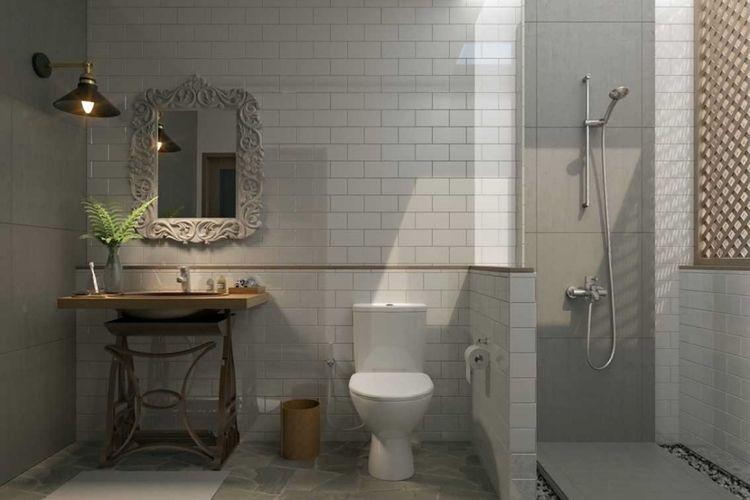 Dekorasi kamar mandi The Gili Resort di Lombok karya Erwin Kusuma.