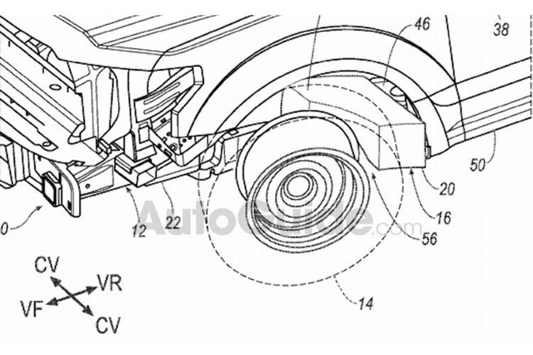 Paten baru Ford, airbag untuk ban depan mobil.