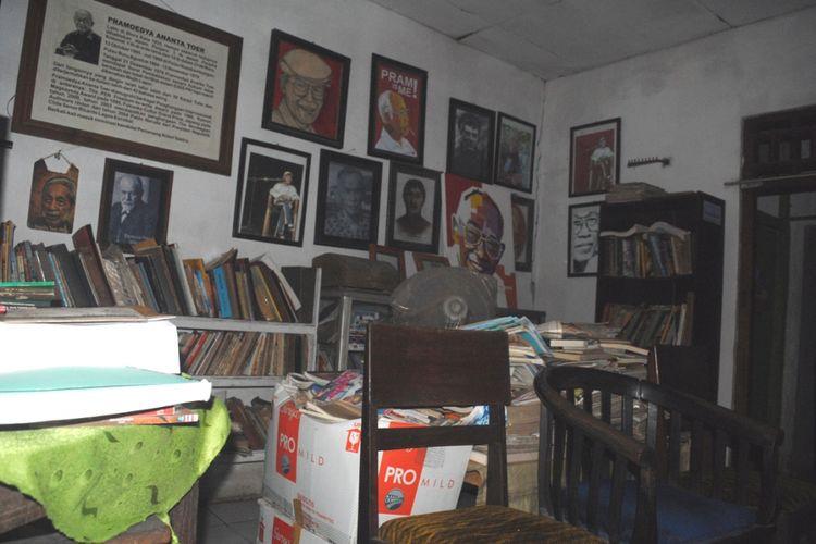 Rumah Soesilo Toer sekaligus perpustakaan di Jalan Sumbawa Nomor 40, Kelurahan Jetis, Kabupaten Blora, Jawa Tengah, Kamis (31/8/2018) sore.