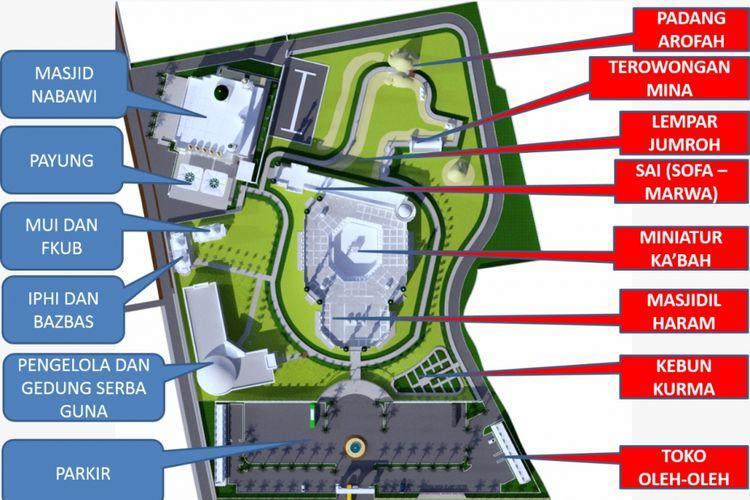 Foto rencana pembangunan Purbalingga Islamic Center, megaproyek yang mengantar Bupati Purbalingga ke kamar tahanan KPK.