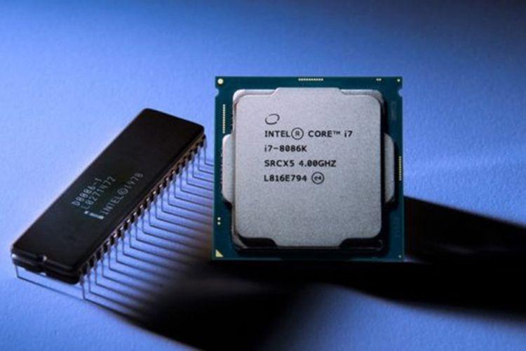 Ilustrasi prosesor Intel Core i7-8086K