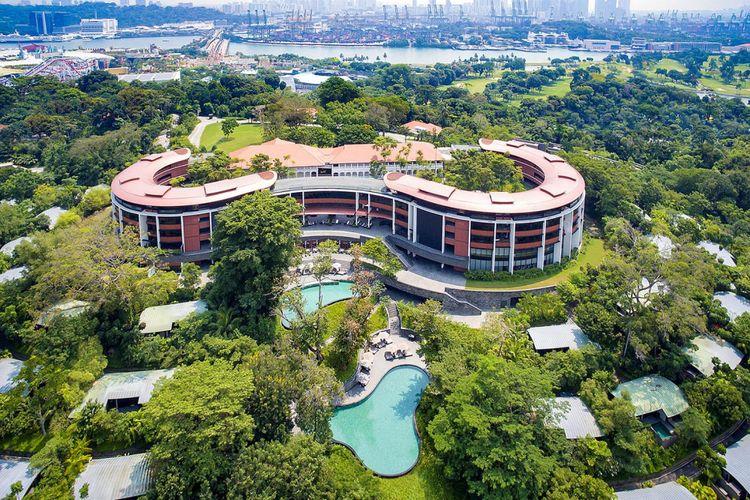 Capella Hotel, Pulau Sentosa, Singapura.