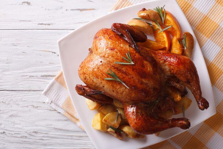 Ilustrasi ayam goreng