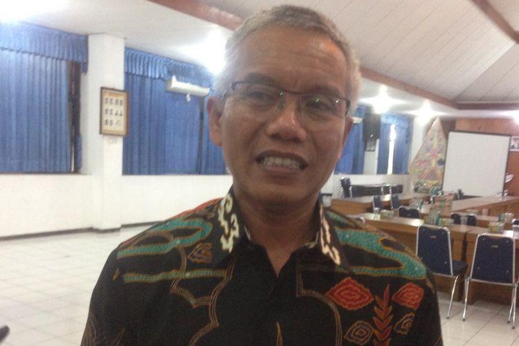 Ketua KPU Jawa Tengah Joko Purnomo saat ditemui di kantornya, Senin (25/6/2018)