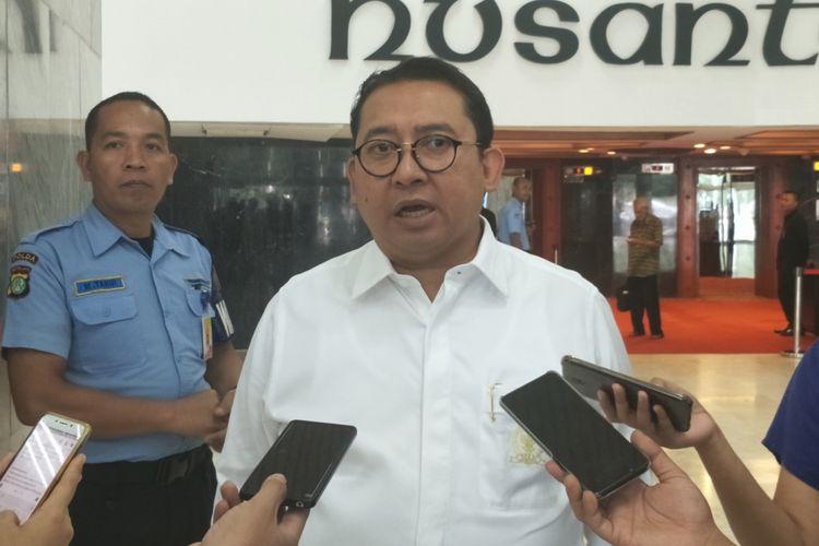 Wakil Ketua Umum Partai Gerindra Fadli Zon saat ditemui di Kompleks Parlemen, Senayan, Jakarta, Kamis (28/6/2018).