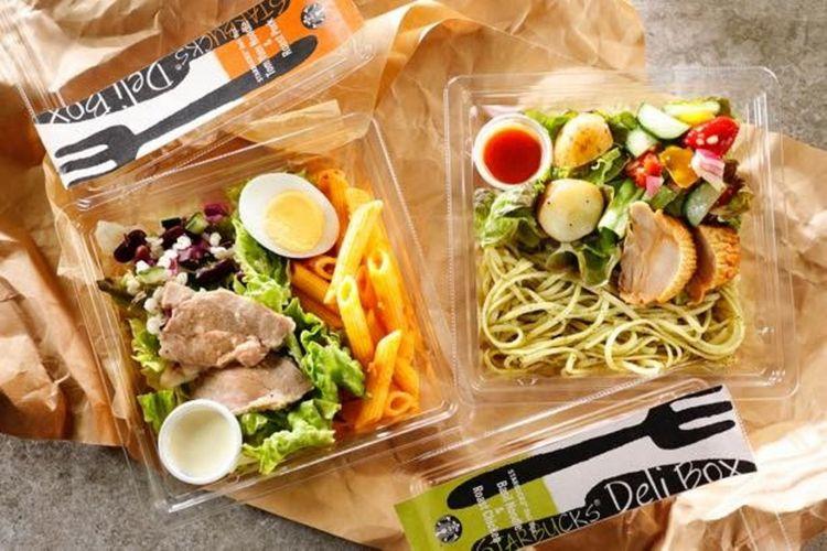 Starbucks Deli Box Basil Noodle & Roast Chicken dan Starbucks Deli Box Tom Yum Noodle & Roast Pork