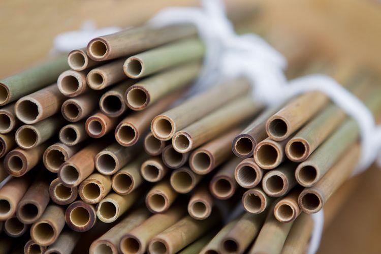 Ilustrasi sedotan bambu