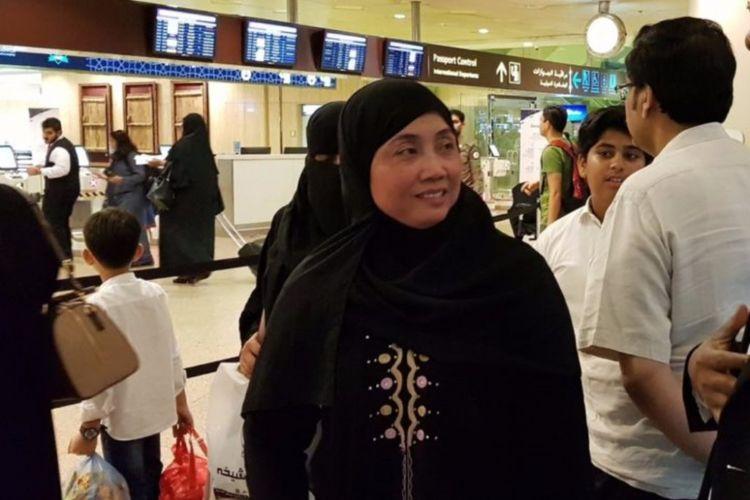 Nurkoyah Marsan Dasan, WNI asal Rengasdengklok, Karawang, Jawa Barat, yang telah bebas dari hukuman mati di Arab Saudi.(dok.KBRI RIYADH)
