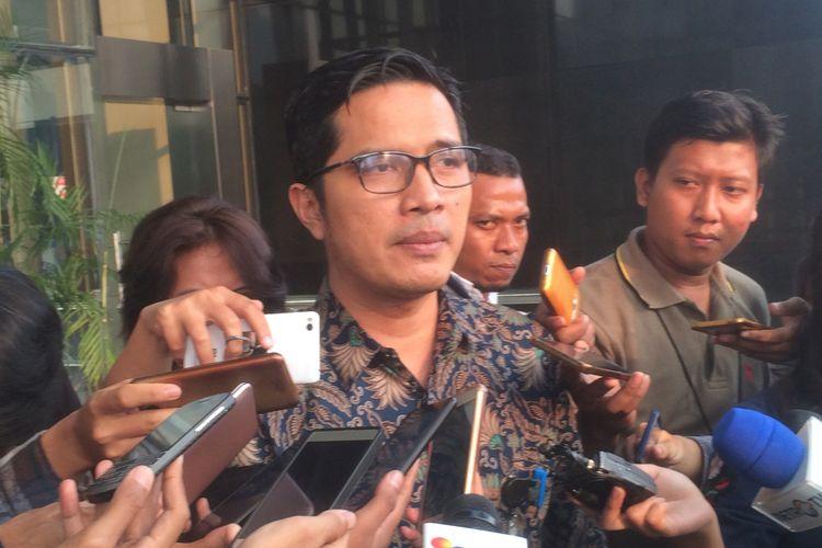 Juru Bicara Komisi Pemberantasan Korupsi (KPK) Febri Diansyah saat ditemui di Gedung Merah Putih KPK, Jakarta, Rabu (11/7/2018) sore.