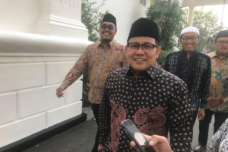 Ketua Umum PKB Muhaimin Iskandar saat mendatangi Istana Presiden Jakarta, Rabu (11/7/2018).
