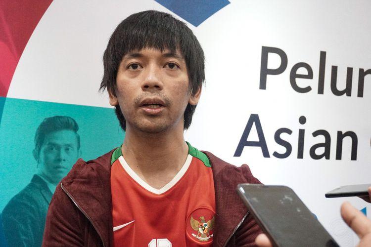 Vokalis DMASIV, Rian Ekky Pradipta, ditemui di Stadion Akuatik, Kompleks Gelora Bung Karno, Senayan, Jakarta Pusat, Jumat (13/7/2018).