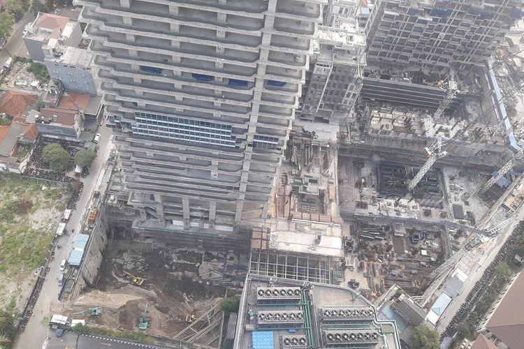 Perkembangan proyek Thamrin Nine Tower 1, Senin (16/7/2018).